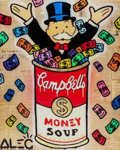 Alec Monopoly High Quality Handpainted & HD Print Graffiti Pop Wall Art Home Decor Oil Painting Money Soup On Canvas Multi Sizes g130