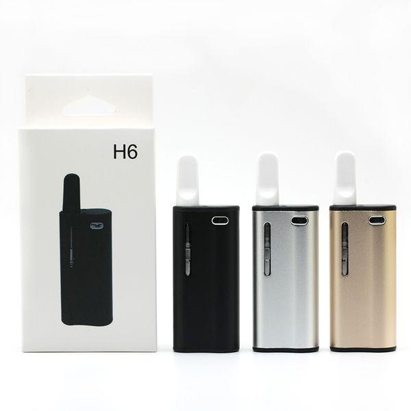 H6 Starter Kit 510 Thread 350mAh Preheating Battery Voltage Adjustable Box Mod 0.5ml Ceramic Coil Thick Oil Tank Vape Pen