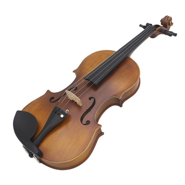 best selling 4 4 Full Size Violin Fiddle Matte Finish Spruce Face Board Ebony Fretboard 4-String Instrument with Hard Case Bow Rosin