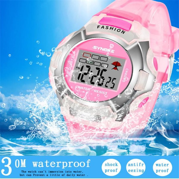 2018 New Waterproof Children Watch Boys Girls LED Digital Sports Watches Plastic Kids Alarm Date Casual Watch Select Gift for kid #D
