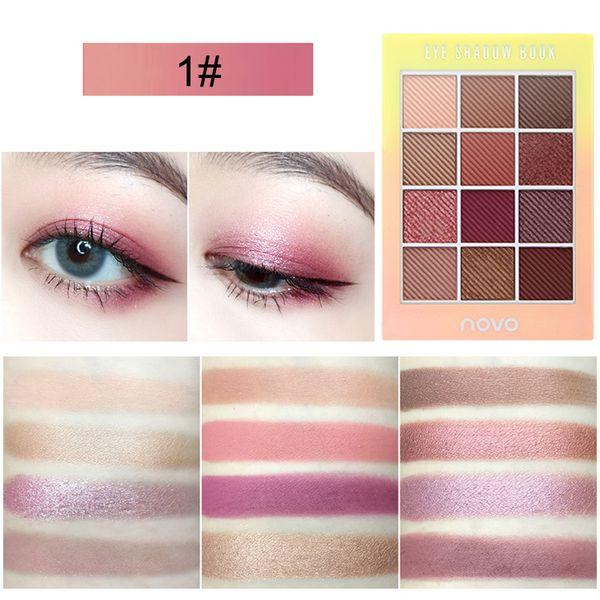 High Quality Natural Matte 12 Colors Eyeshadow Palette Waterproof Long-lasting Eye Shadow Palette Cosmetics