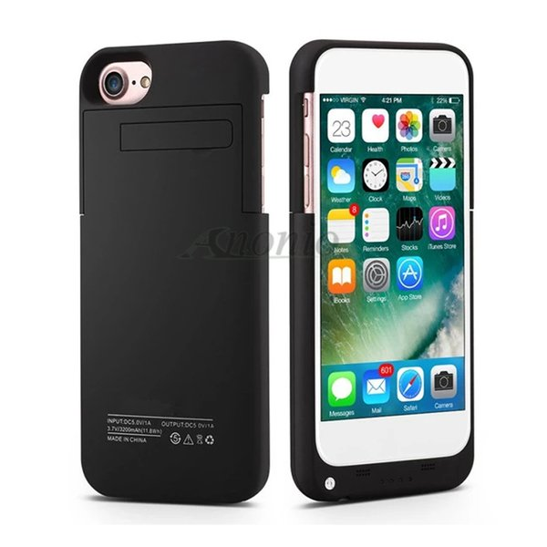 Wholesale Cell Phone Chargers 3200mAh Power Bank Battery Case for Iphone 6/6s/7/8 Extra Battery Charger Cover portable battery case charging