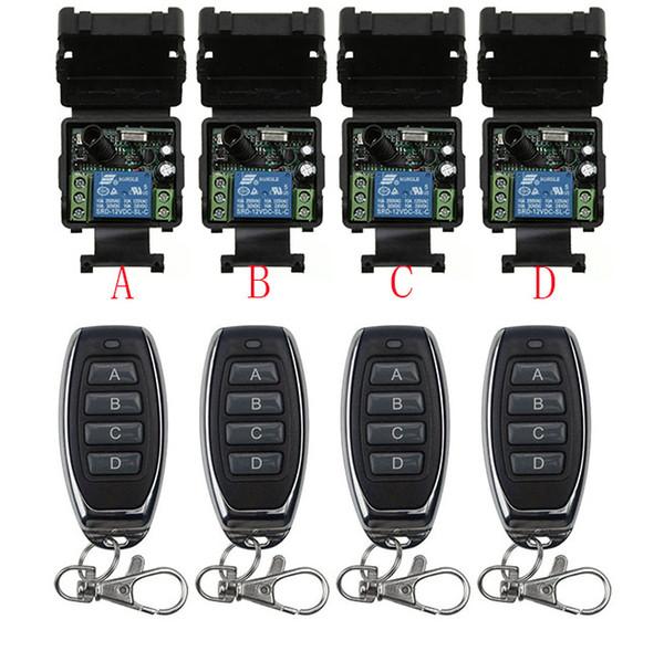 DC12V 24 V 1CH Mini Wireless RF Remote Control Switch 10A Relè Uscita Modulo Ricevitore Radio + Trasmettitore Garage Porte / lampada