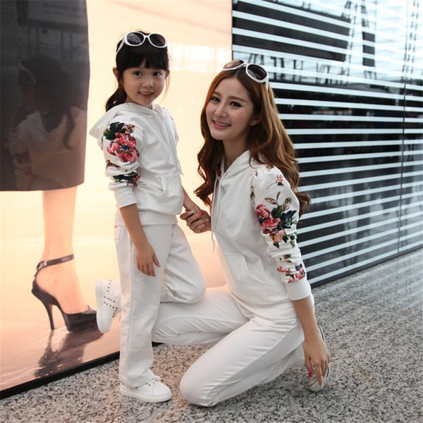 2018 Autumn Mom and Daughter Family Matching Clothing Mom And Girls Family Look Outfit Mother Daughter Winter Clothes Set