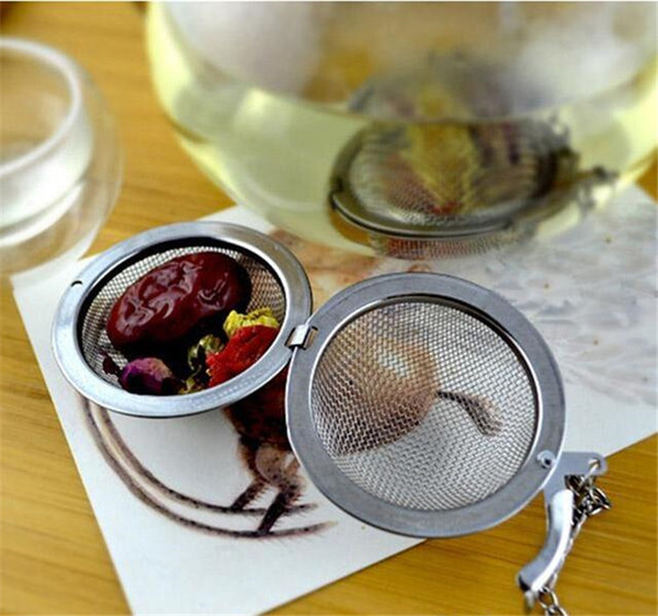 best selling New Stainless Steel tea infuser 4.5cm   5.5cm   7cm  9cm Tea Pot Infusers Sphere Mesh Tea Strainer Ball