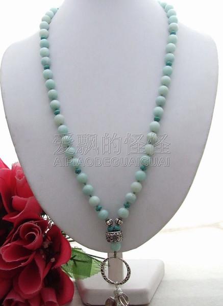 N072406 27'' Smoky onyx crystal stone Necklace