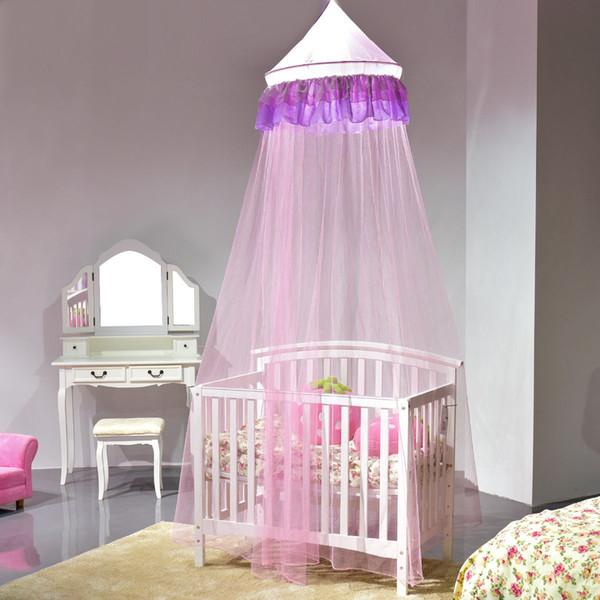 Elegante Spitze Bett Moskitonetz Mesh Baldachin Prinzessin Runde Dome  Bettwäsche Net