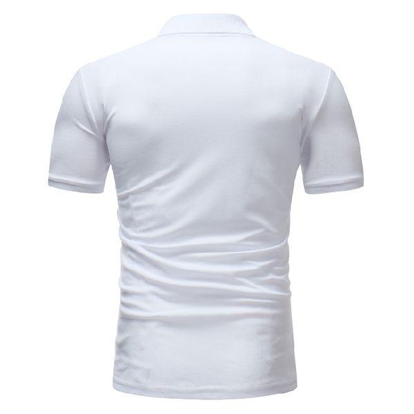f5ef5c0324 Verano Transpirable Polo Casual Hombres 2018 Nuevo Estampado Geométrico Polo  Homme Slim Fit Camisa Polo Masculina de manga corta