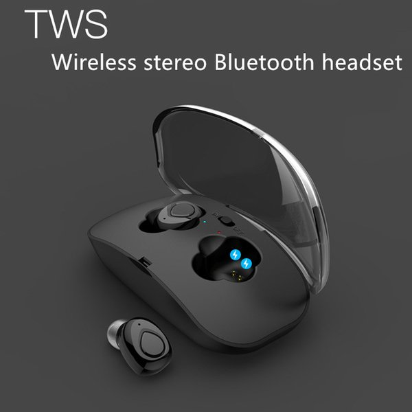 X18 TWS Invisible Mini Sports Bluetooth 4.2 Earphone Stereo Wireless In-Earphone Headphones With Power Bank box