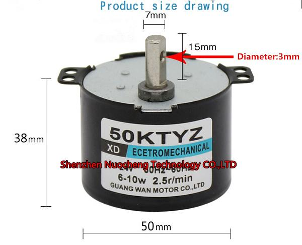 top popular Brand new 50KTYZ permanent maglev synchronous motor 220V 6W-10W 50RPM micor gear motor 2021