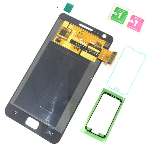 Super AMOLED LCD Display 100% Testsd Working Touch Screen Assembly For Samsung Galaxy S2