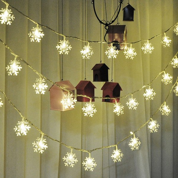 best selling LED snow lantern string lantern wedding flashing lights string stars room decorative lights Christmas lights string European small lantern w