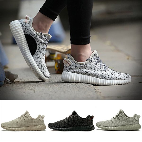 With original box 35O V1 Moonrock Pirate Black Oxford Tan Turtle Dove Grey Women Men Running Shoes Sports Kanye West Fashion Casual Sneakers