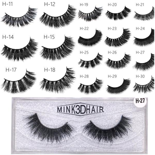 3d Mink Eyelashes Handmade Mink Lashes Thick Sexy False Eye Lashes Eye Makeup Make Up Tool 50 Styles