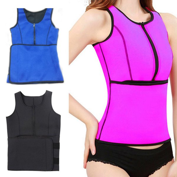 1299ad3ffa2 Neoprene Sauna Waist Trainer Vest Hot Shaper Summer Workout Shaperwear Slimming  Adjustable Sweat Belt Bustiers Corsets