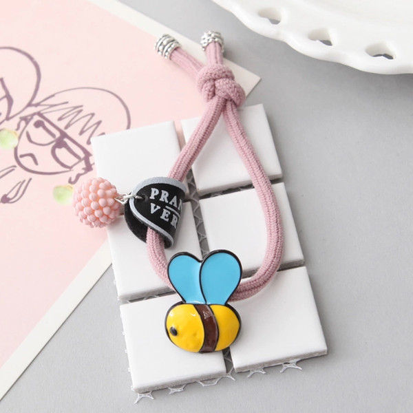 Butterfly South Korea Autumn Winter New Style Lovely Retro Small Bee Knot Hair Rope Tie Hair Elastic Hair Accessories