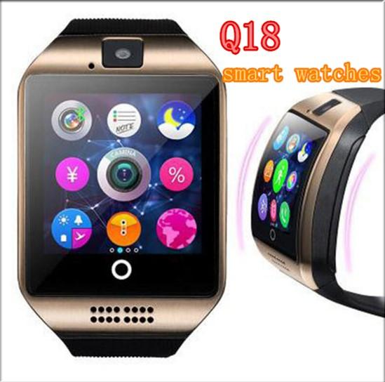 Q18 smart watches for android phones Bluetooth Smartwatch with Camera Support Health Smart watches Tf sim Card Slot Bluetooth MQ50