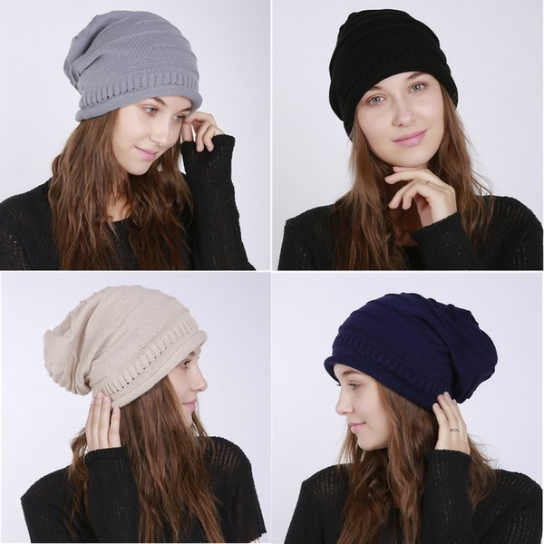 Winter Warm Hat for Women Fashion 1 Pair Knitted Cap Beanies Ear Protector Thick Female Caps Casual Hats for Girls CJ193