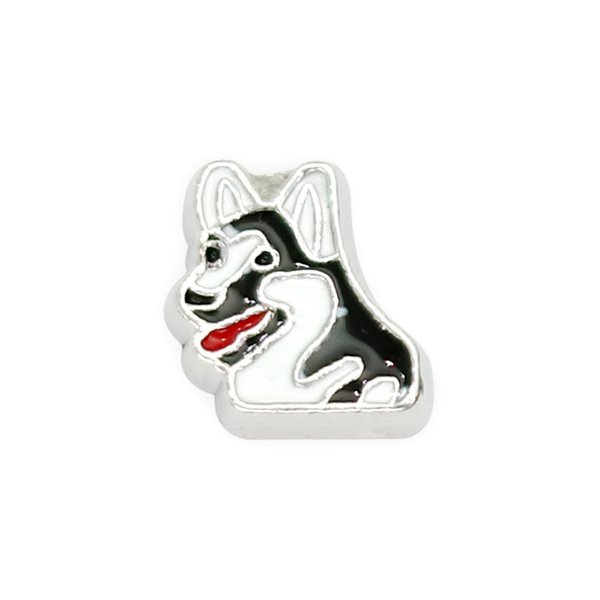 30pcs/lot free shipping cute dog good quality alloy DIY floating charms for glass living memory locket