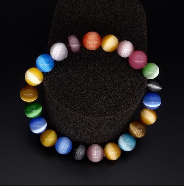 Shining Beauty - Bracelet en opale colorée Bracelet en jade Bracelet