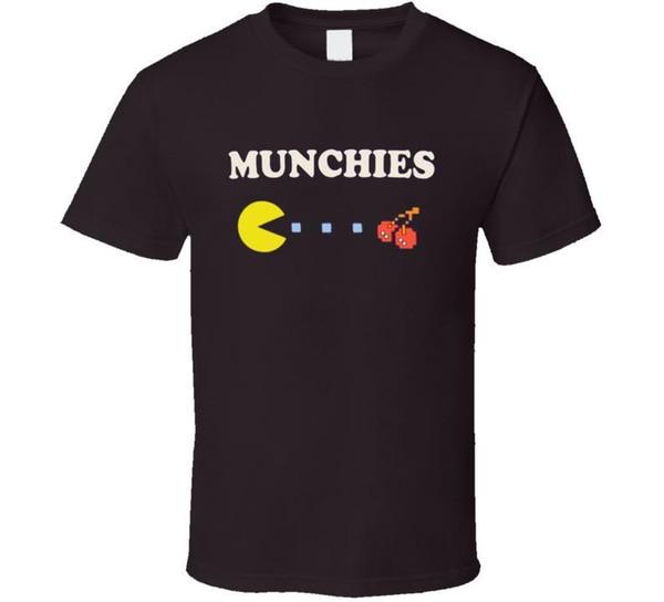 Munchies Pac Homem Engraçado Drillbit Taylor Filme T Shirt dos homens Preto Estilo Verão Hip Hop Dos Homens T Shirt Tops Cor Sólida