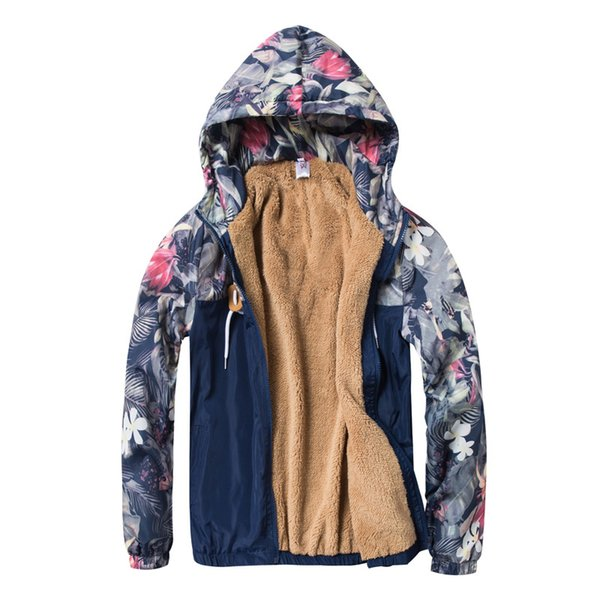 Waterproof Autumn Winter Women Jackets Basic Zipper Hooded With Fur Ladies Coats Female Plus Size 5XL Jackets Outwear FLD1165