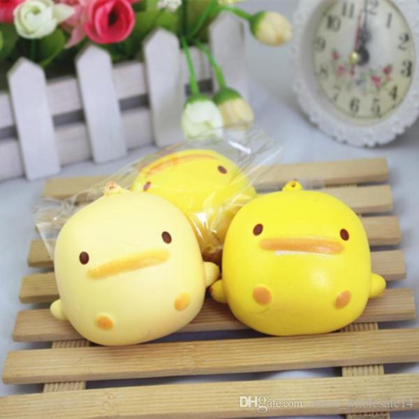 Cute Duck Party Favor Soft Toy Rubber Cartoon Slow Rebounding Key Pendant Decompression Toy Elastic Slow Rebound