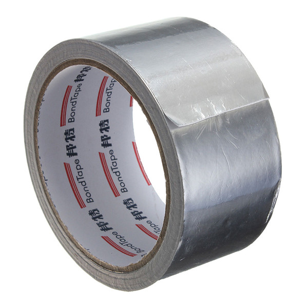 Silver Aluminium Foil Adhesive Sealing Tape Thermal Resist Duct Repairs High Temperature Resistant Foil Adhesive Tape