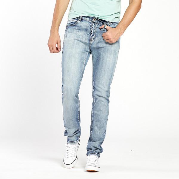 d0675425 Mens Jeans Trendy Stretch Blue Grey Denim Men Slim Fit Jeans Trousers Pants  Size 30 32