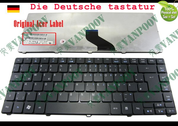 New and Original Notebook Laptop keyboard FOR Acer Aspire 3810 3810T 4735 4735G 4735Z 4736 4736G 4736Z 4741 4745 Black German Deutsch GR DE