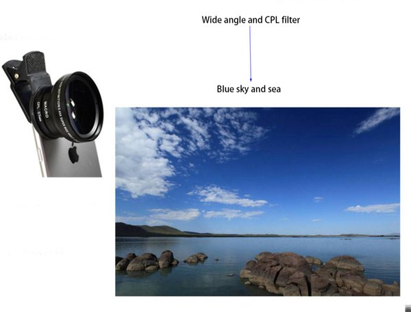 Multi functional 37mm mobile phone lens 12 in 1 set 0.45X wide angle 12.5X macro lens star ND8 CPL gradual filter