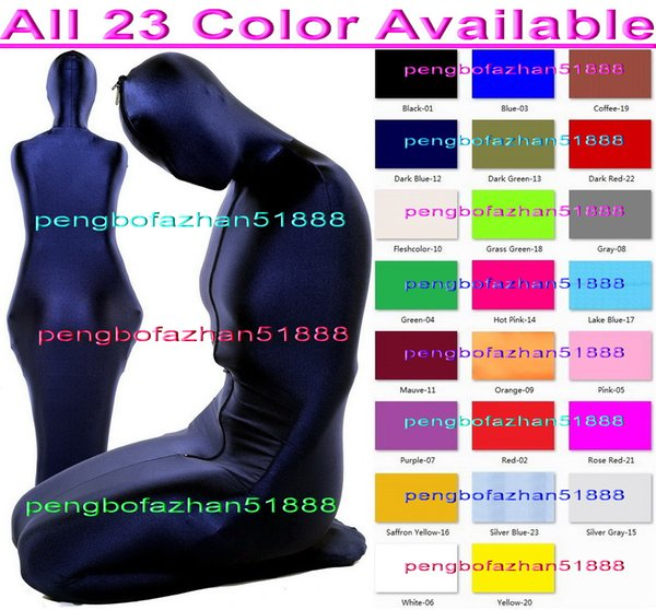 Sexy Mummy Suit Sleeping Bags New 23 Color Lycra Spandex Mummy Suit Costumes Sleeping Bags Unisex Sexy Mummy Body Suit Costumes Outfit P159