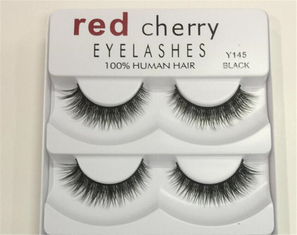 Whole ale item red cherry fal e eyela he 5 pair pack 8 tyle natural long profe ional makeup big eye