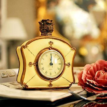 051318 Desk Clocks alarm table director crafts projection desktop digital vintage pastoral sitting room resin