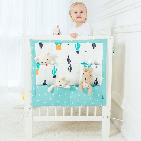 New Design Muslin Tree Bed Hanging Storage Bag Baby Cot Bed Brand Baby Cotton Crib 50*60cm Toy Diaper Pocket for Crib Bedding Set