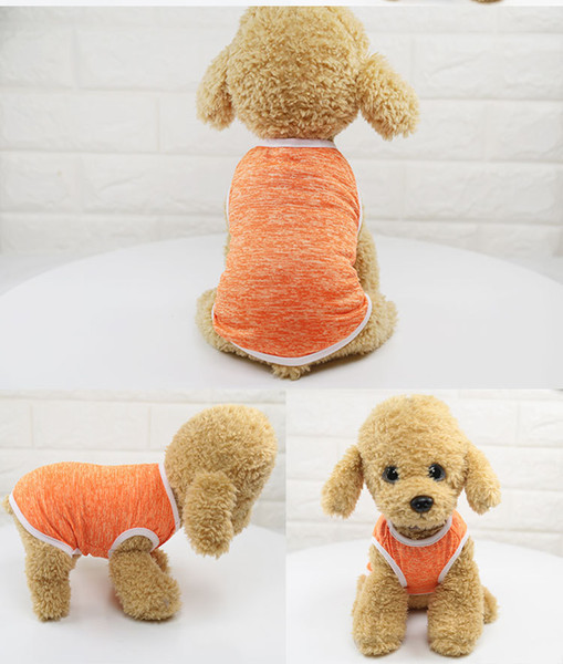 New spring and summer thin section vest classic stain-resistant breathable comfort pet dog clothes vest Pet clothing