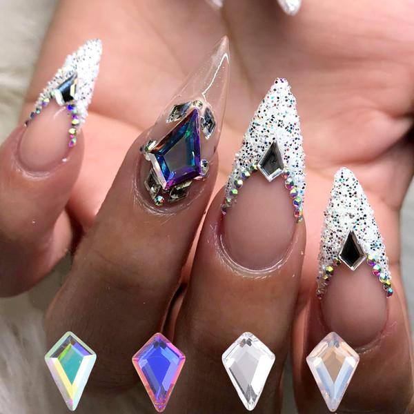 Compre 100 Piezas Nuevos Diseños De Cristales De Uñas Piedras Espalda Plana Uñas Diamantes Gemas Diamantes De Imitación Para Uñas Decoración De Arte