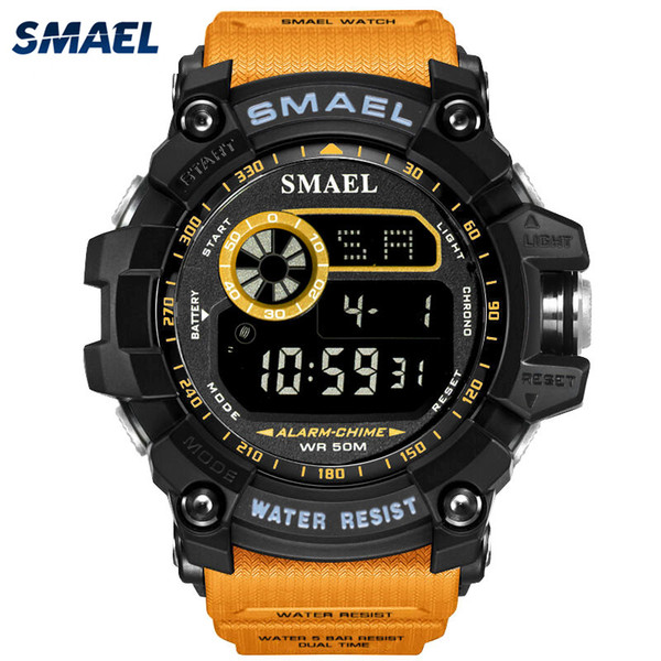 Men's Watch Sport multifunctional electronic watch waterproof vibration-proof lighting week display alarm clock calendar student fashion