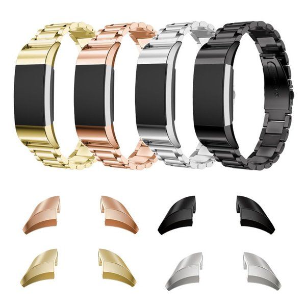 Stainless Steel Adapter Connector For Fitbit Charge 2 Watch Band Strap Bracelet