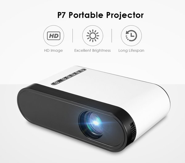 P7 Mini LCD Projector 600 Lumens Portable Home Theater Porjector 320 x 240 Support 1080P Built-in speaker For Video Games Movie