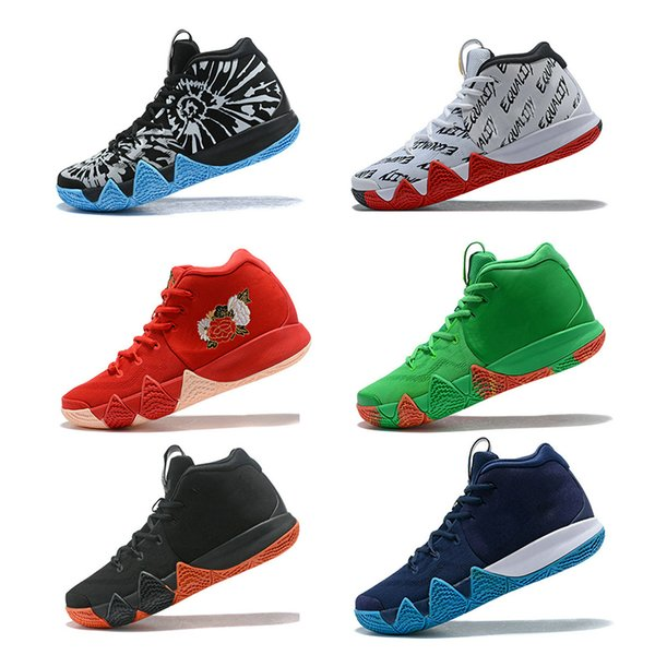 Discount 4 4s men basketball shoes Wolf Grey Team Red Fall basketball trainers E-quality Graffiti embroidery mens sneakers