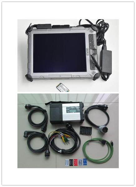 super star diagnose ssd mb star c5 v2019.07 Rugged Xplore IX104 Tablet I7&4gb scanner for benz