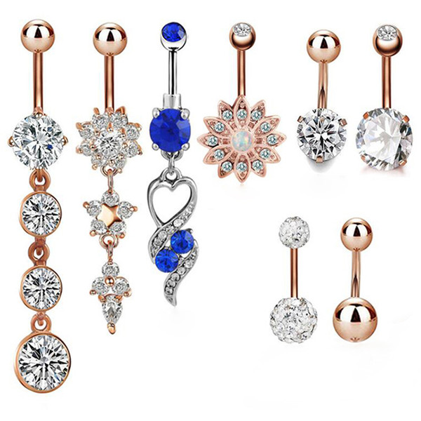 14 GA Eighth Music Note Sparkle Belly Button Ring 316L Surgical Stainless Steel Body Piercing Jewelry For Women and Men Davana Enterprises Multiple Colors