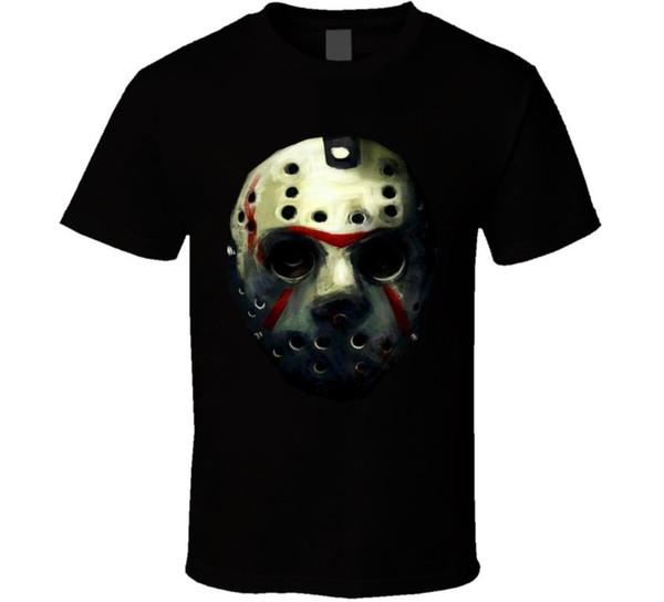 Jasons Maske Freitag 13 Kunstwerk Hockey Mas Scary Movie T-Shirt Licht