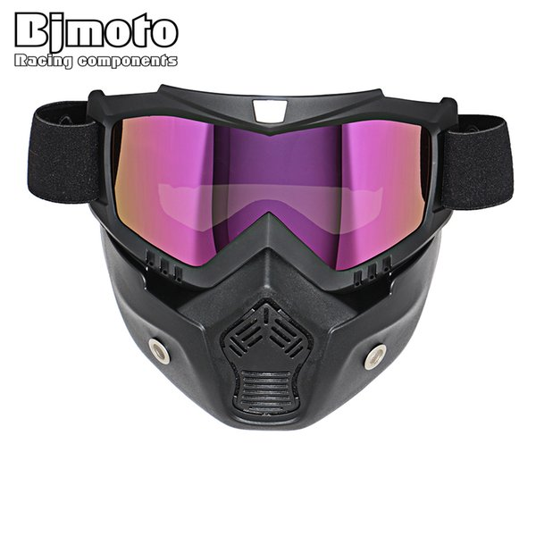 Hot Sale Retro Motorcycle Goggles Glasses Face Dust Mask With Detachable Nose and Face Sunglasses Gafas Oculos Motocross Helmet
