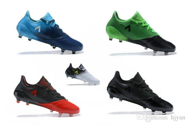 2017 New ACE 17.1 Leather FG Men Football Shoes High Quality ACE 17.1 Weaving Kangaroo Leather FG Pin Mens Soccer Shoes Boots Online Leather Boots