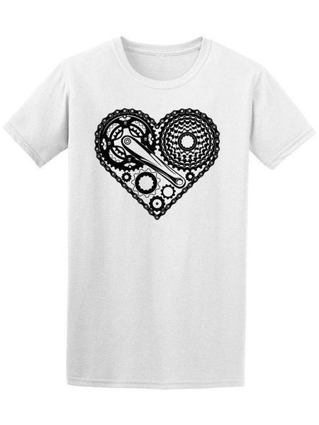 Heart bike T-shirt for men short sleeve sport summer breathable shirts