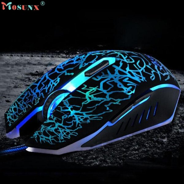 Adroit Professionelle Bunte Backlight 4000 DPI Optische Wired Gaming Maus Mäuse JAN12 drop shipping