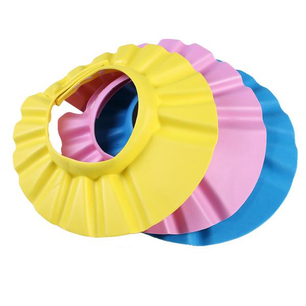 Safe Shampoo Shower Bathing Bath Protect Soft Cap Hat For Baby Wash Hair Shield Bebes Children Bathing Shower Cap Hat Kids free shipping