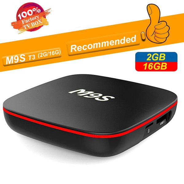 M9S T3 Box Android TV 2 Go 16 Go Allwinner H3 Quad Core 1 Go 8 Go 4K H.265 1080P Vidéo en streaming Boîtes Android TV Mieux TX3 X96 S905W S905X2